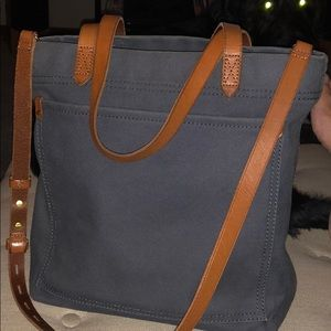 Madewell transport tote blue